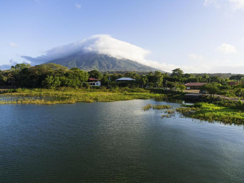 Lake Nicaragua in Ometepe Island