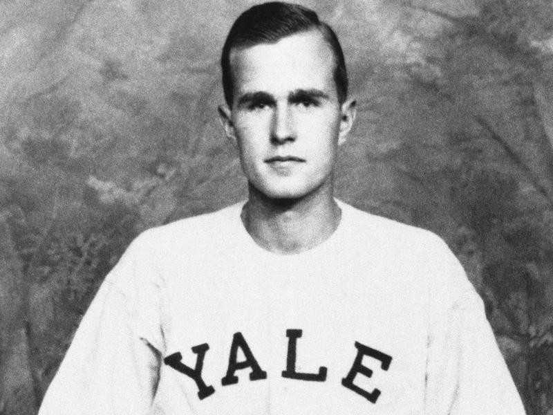George H. Bush on the Yale baseball team