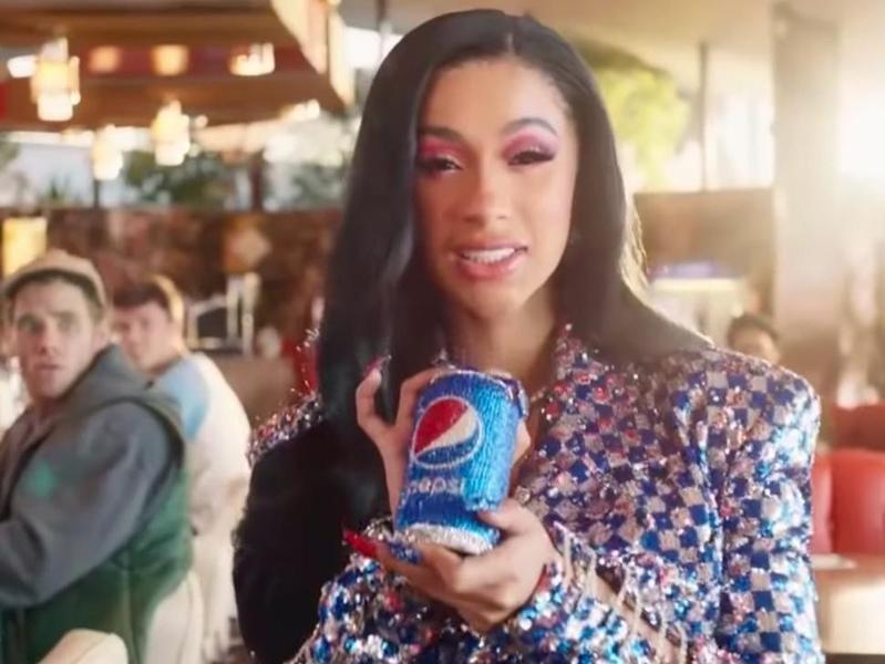 Pepsi Cardi B commercial in 2019