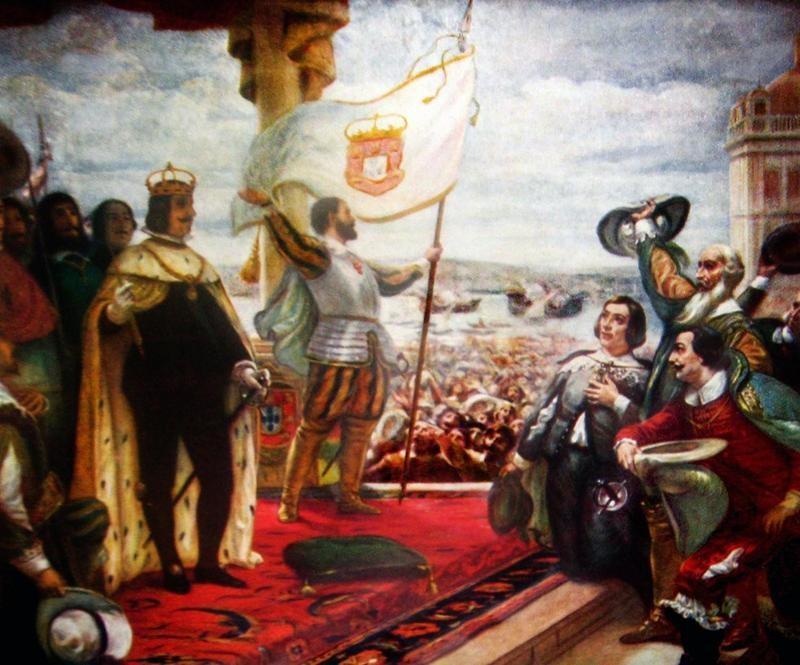 The Acclamation of the King John IV by Veloso Salgado