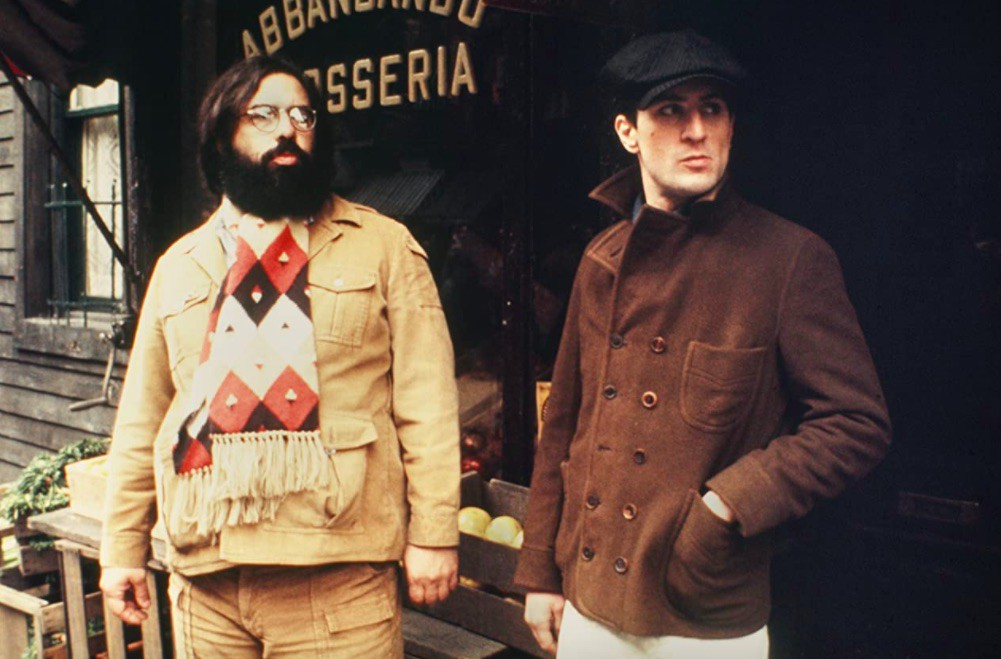 Robert De Niro and Francis Ford Coppola in The Godfather: Part II