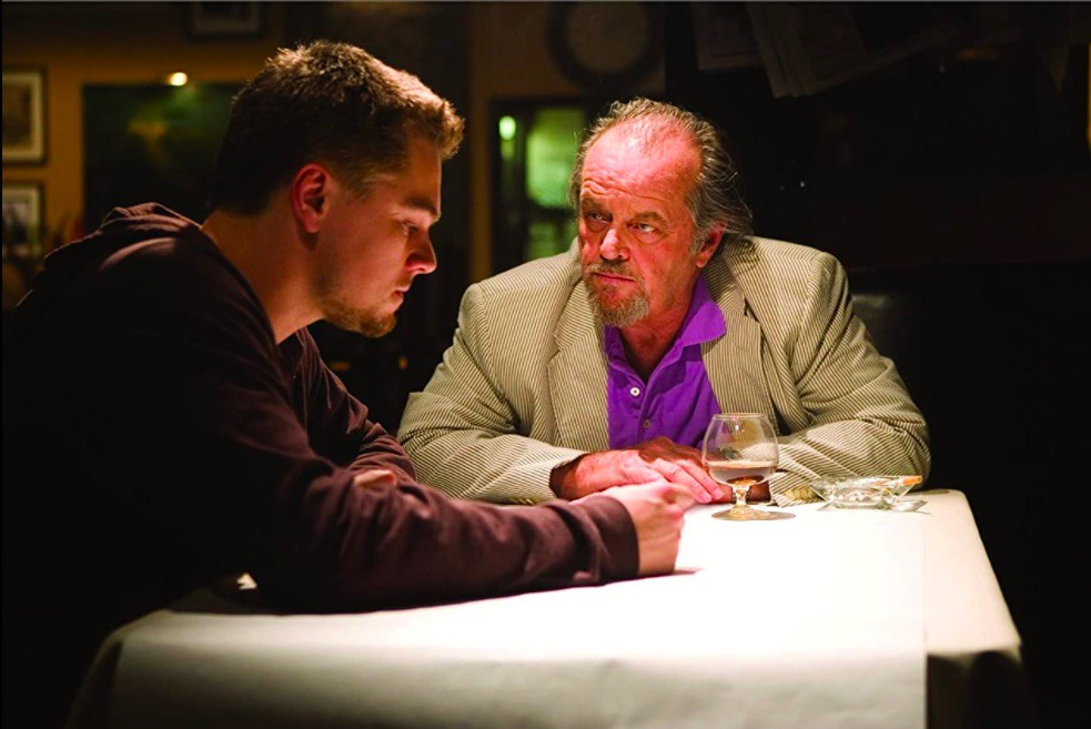 Leonardo DiCaprio and Jack Nicholson in The Departed
