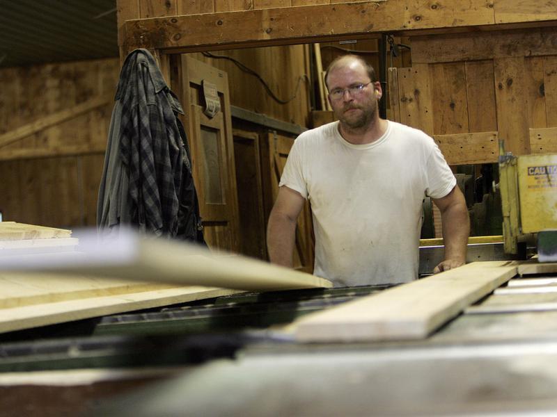 Lumber worker in Henniker, New Hampshire