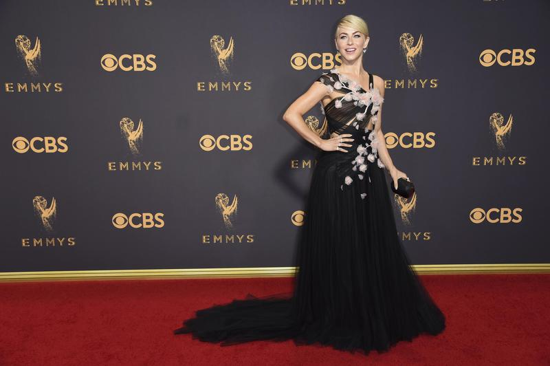 """Julianne Hough arrives at the Emmy Awards in Los Angeles in 2017. The """"Dancing with the Stars"""" star has pursued an acting career."""