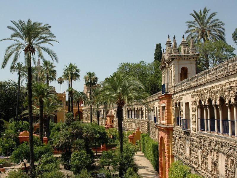 Alcazar Gardens, Seville, Spain