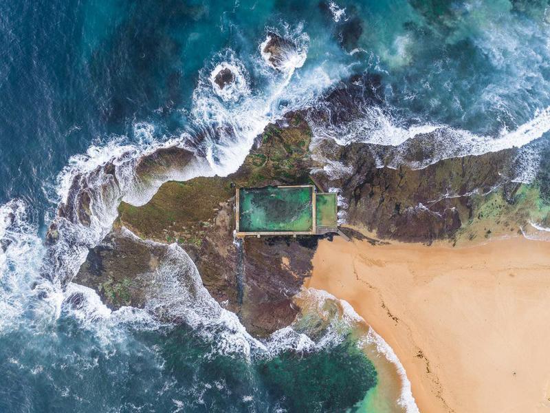Mona Vale Australian Rock pool in Sydney