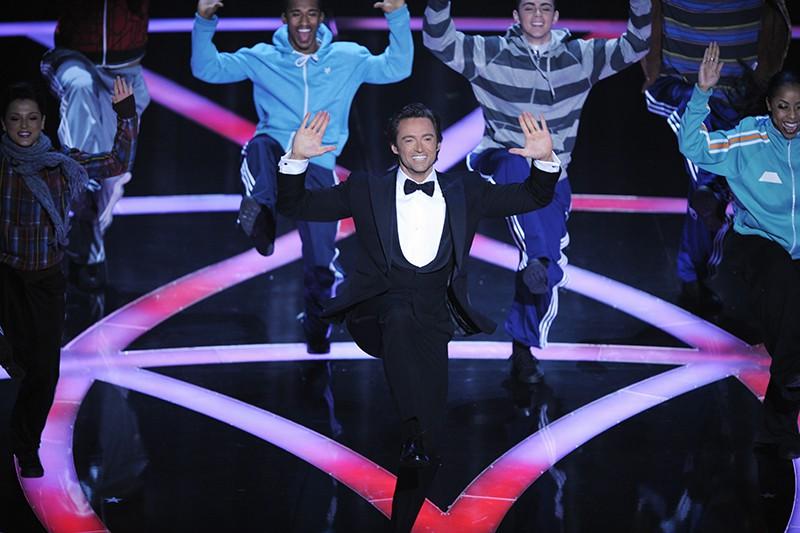 Hugh Jackman performing