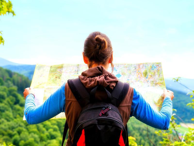 Woman travel solo