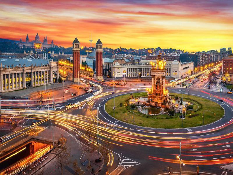 Plaza de España in Barcelona, Spain