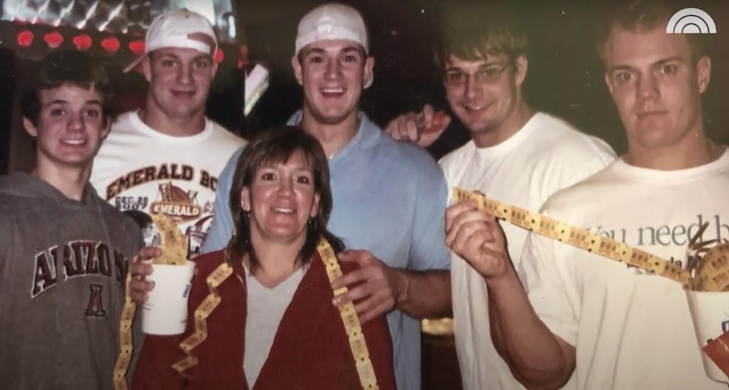 Rob Gronkowski's mom and brothers