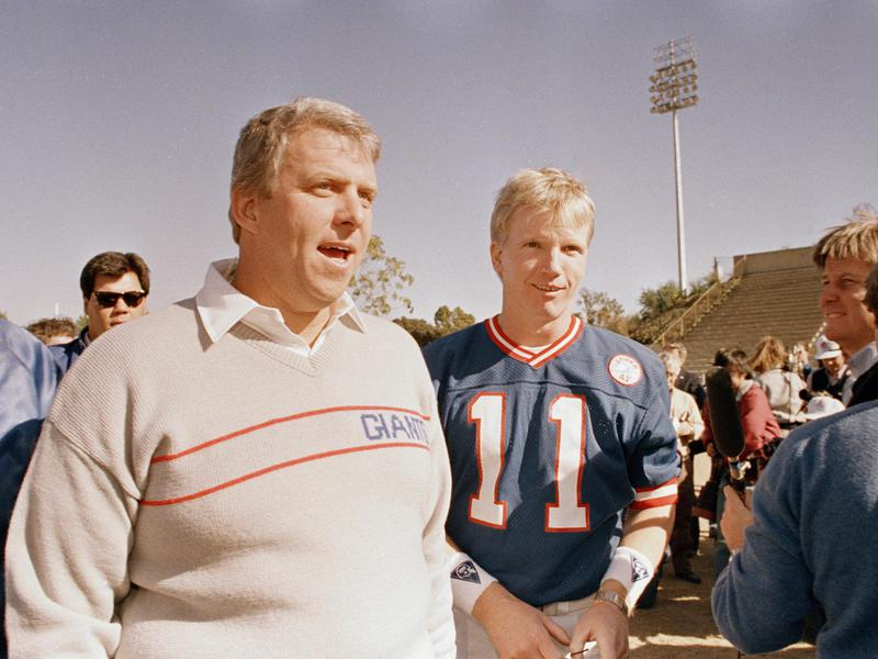 Bill Parcells and Phil Simms