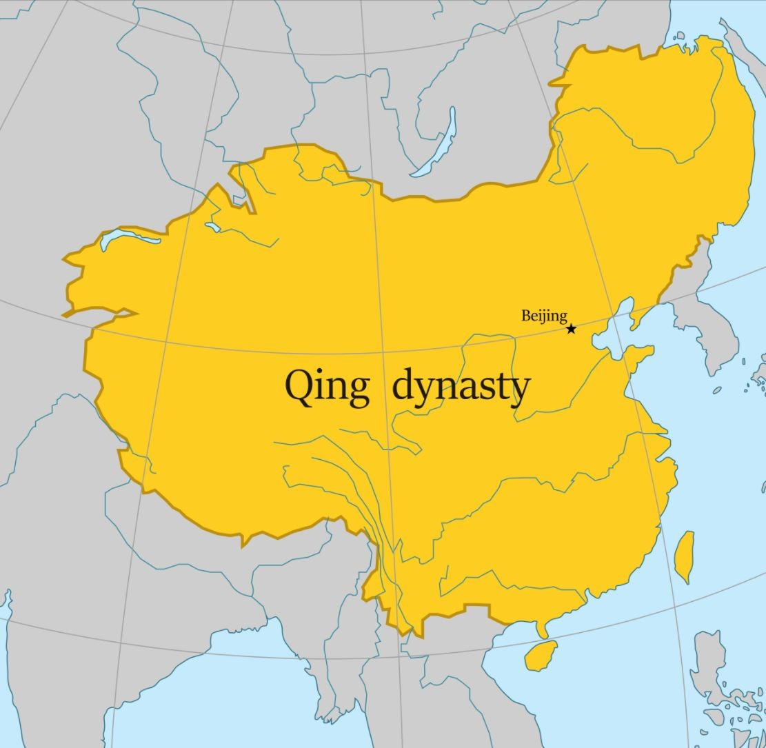 Map of the Qing dynasty
