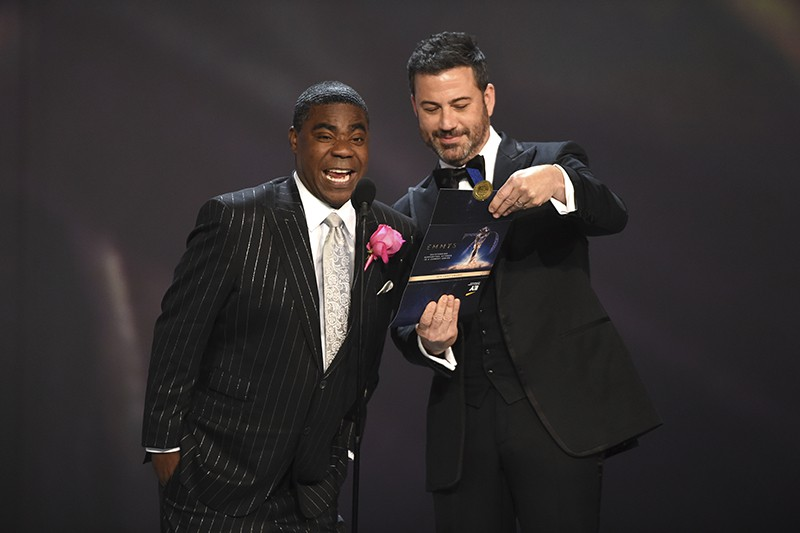 Jimmy Kimmel and Tracy Morgan