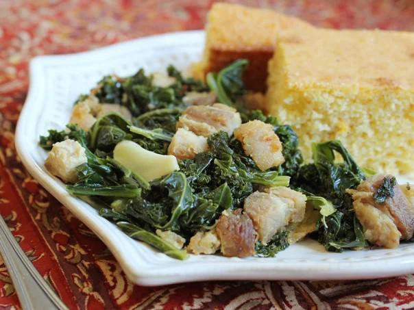 Kale & Crispy Pork Belly