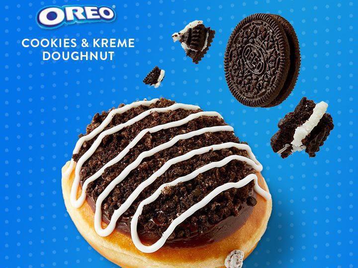 Oreo Cookies and Kreme Donut