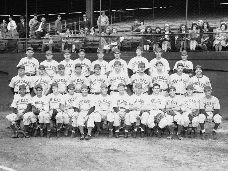 Charlie Grimm and the 1945  Chicago Cubs
