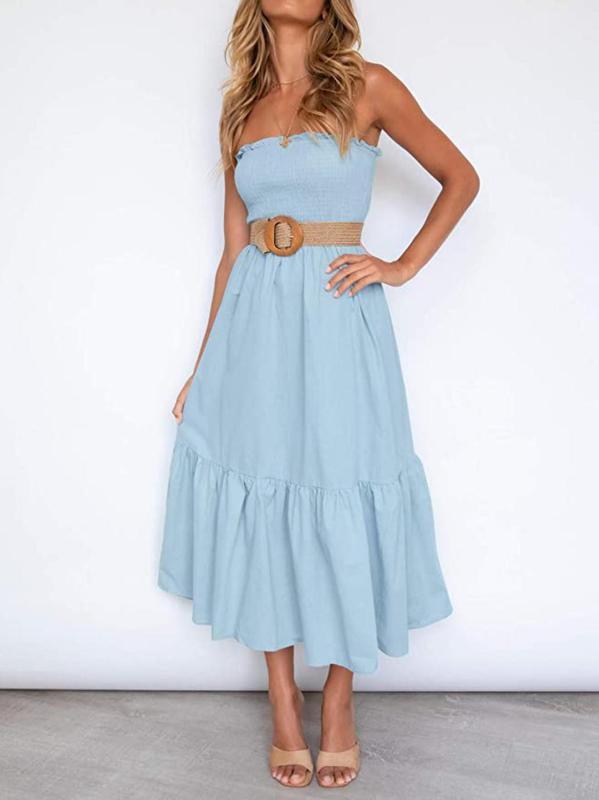Zesica Women's Summer Bohemian Maxi Dress