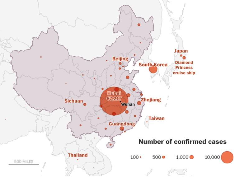 Chinese Caronavirus Map