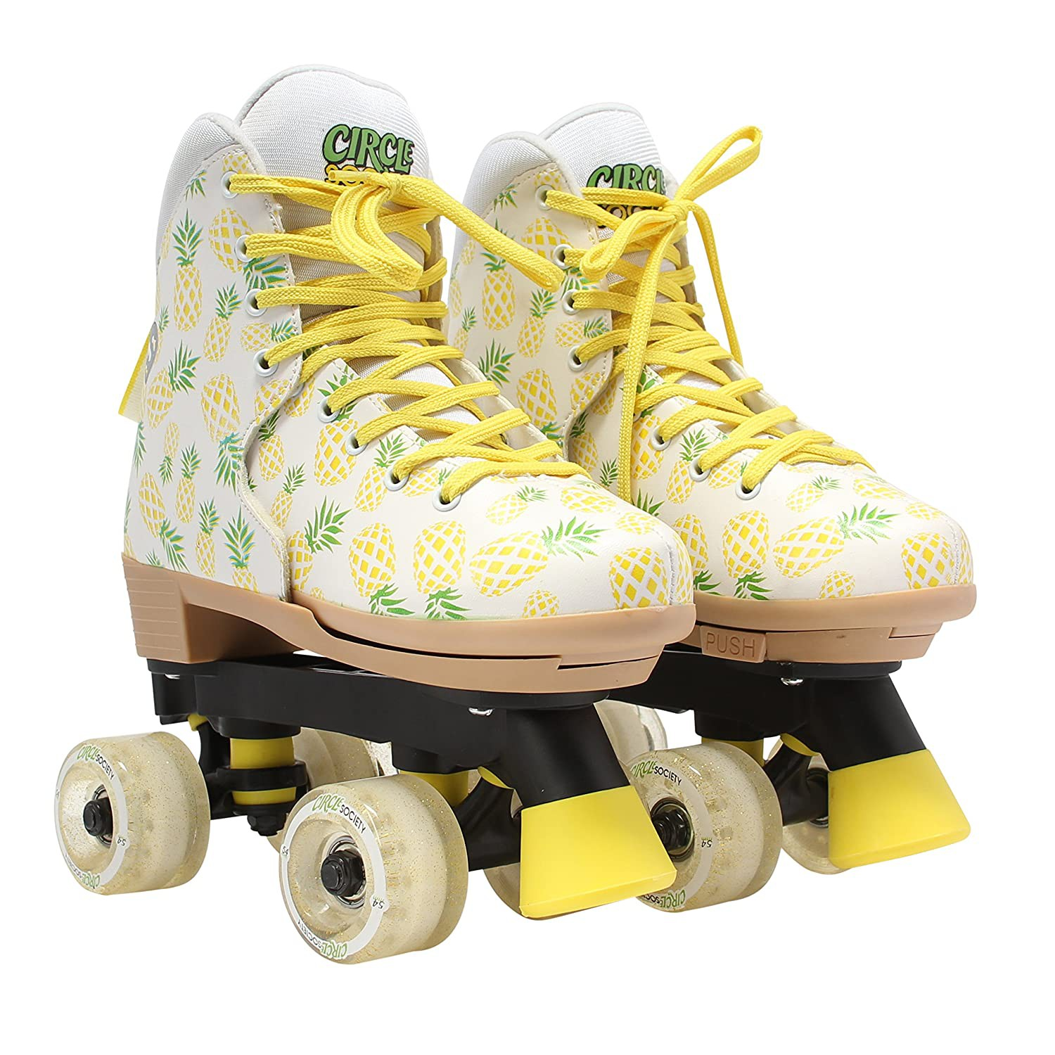 Circle Society Classic Adjustable Children's Roller Skates, Crushed Pineapple
