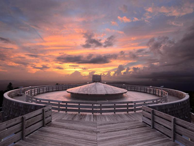 Observatory at the summit of Brasstown Bald