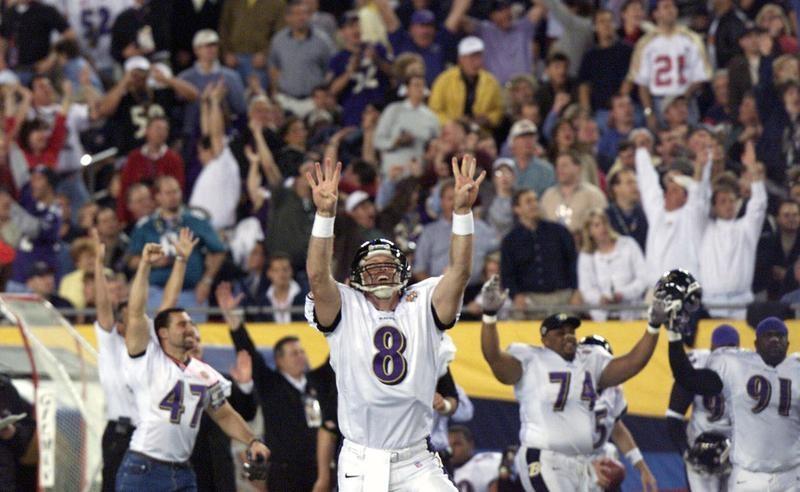 Trent Dilfer in Super Bowl XXXV
