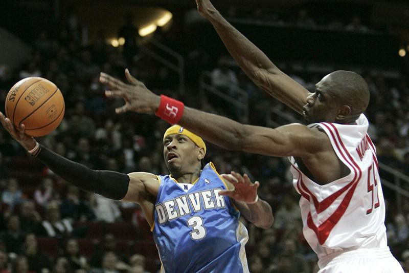 Dikember Mutombo and Allen Iverson