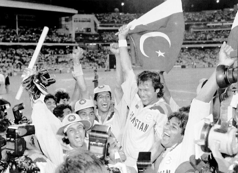 Imran Khan waving Pakistan flag