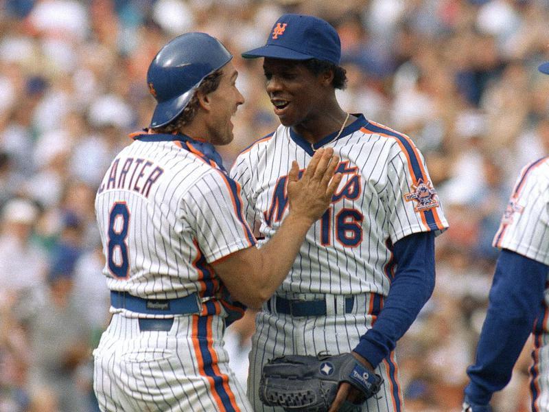 Gary Carter and Dwight Gooden
