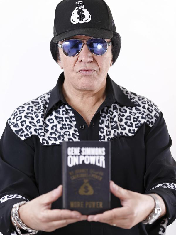 Gene Simmons with his Book 'On Power'