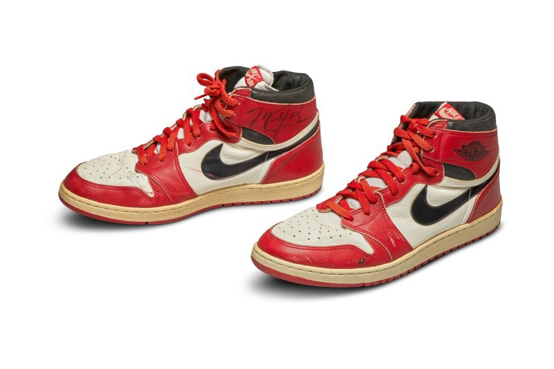 Michael Jordan's Rookie Nike Air Jordan 1s
