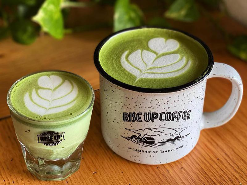 Matcha coffee cups