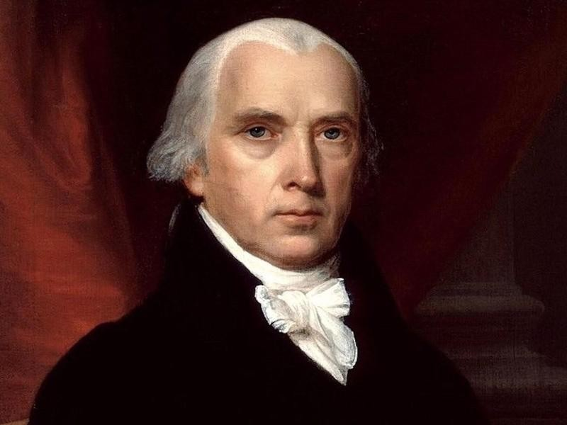 President James Madison in a portrait