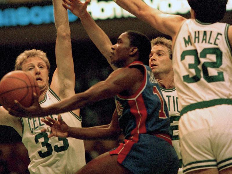 Detroit Pistons guard Isiah Thomas