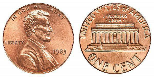 1983 Lincoln Memorial Cent