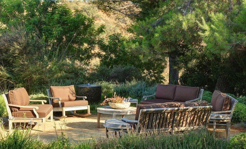 Relaxing outdoor patio