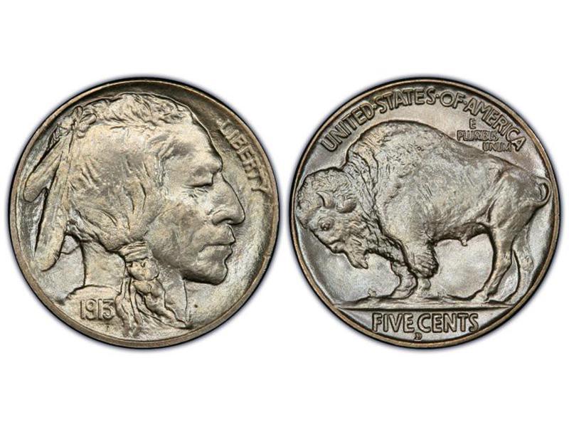 1913-D Buffalo Nickel — Type 2