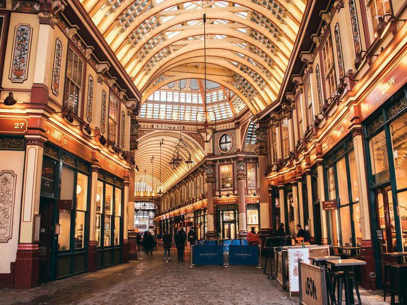 Leadenhall market in London, England, 2018