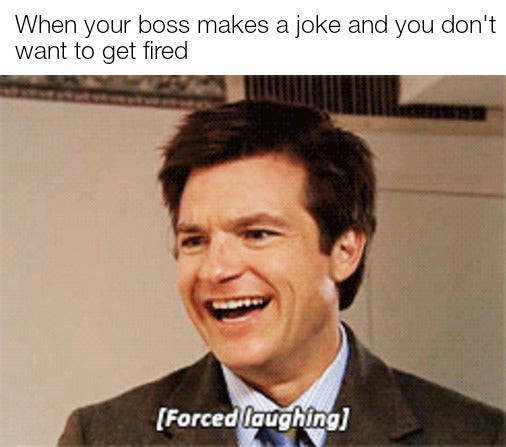 Forced laughing meme