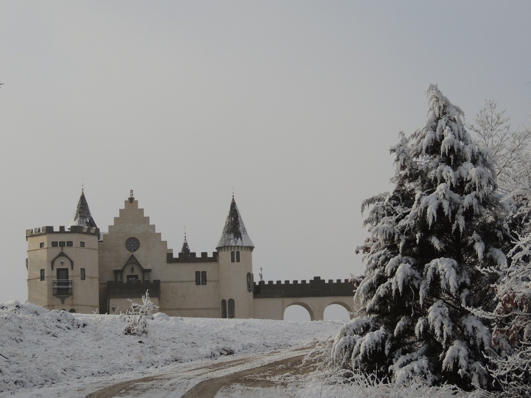 Chateau Charmant in winter
