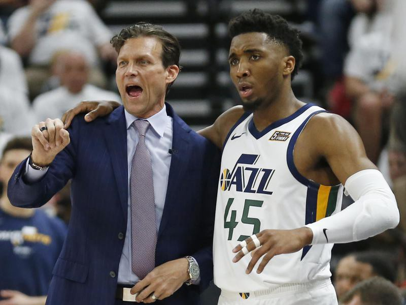 Quin Snyder and Donovan Mitchell