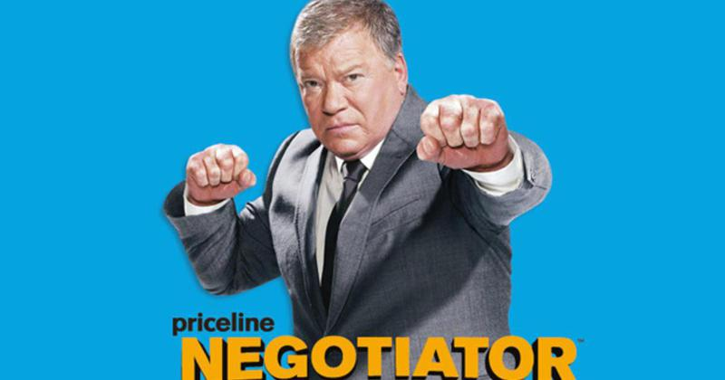 Shatner's crazed businessman character appeared in numerous commercials for Priceline.com over 13 years.