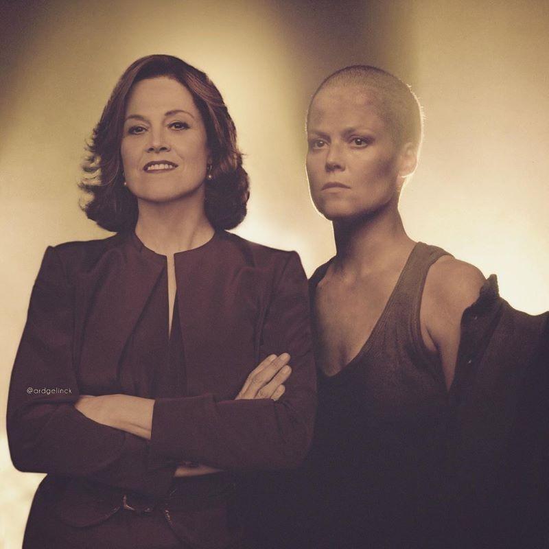 Sigourney Weaver and Ripley