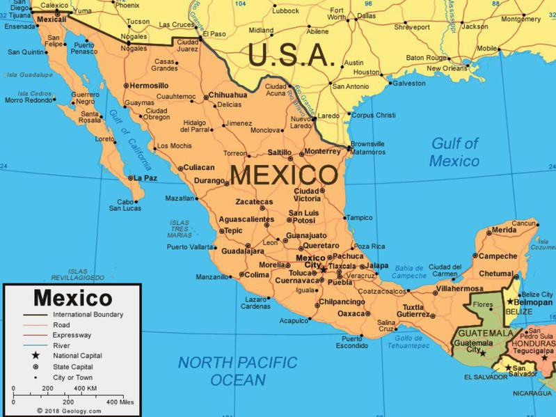 Map of Mexico