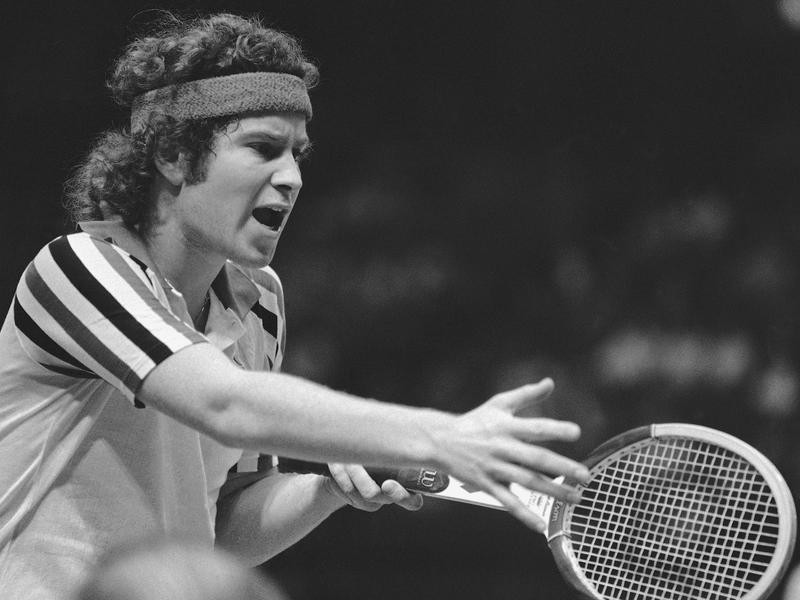 American tennis star John McEnroe