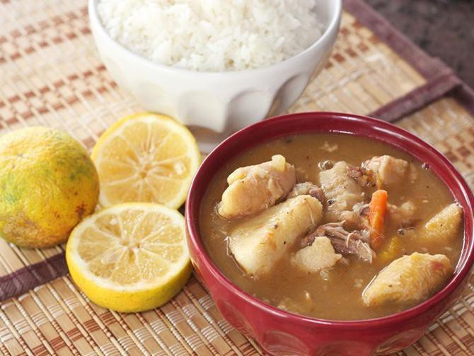 Dominican seven-meat soup