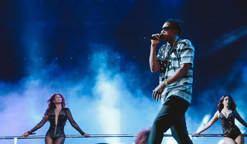 Beyonce and JAY Z perform during the On The Run tour at Rogers Centre