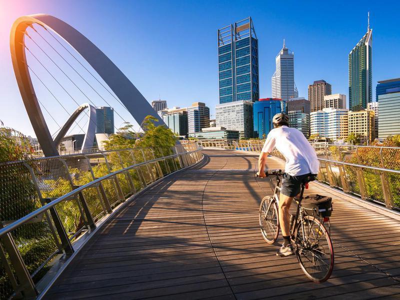 Elizabeth bridge in Perth city