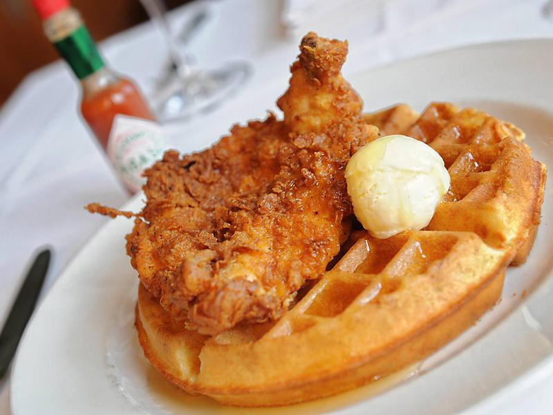 Chicken and waffles at South City Kitchen Midtown