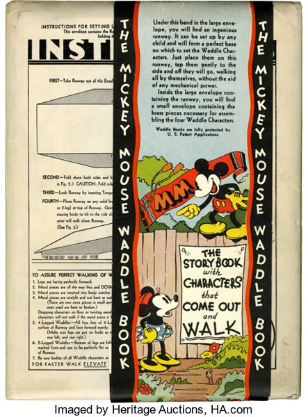 1934 Mickey Mouse Waddle Book
