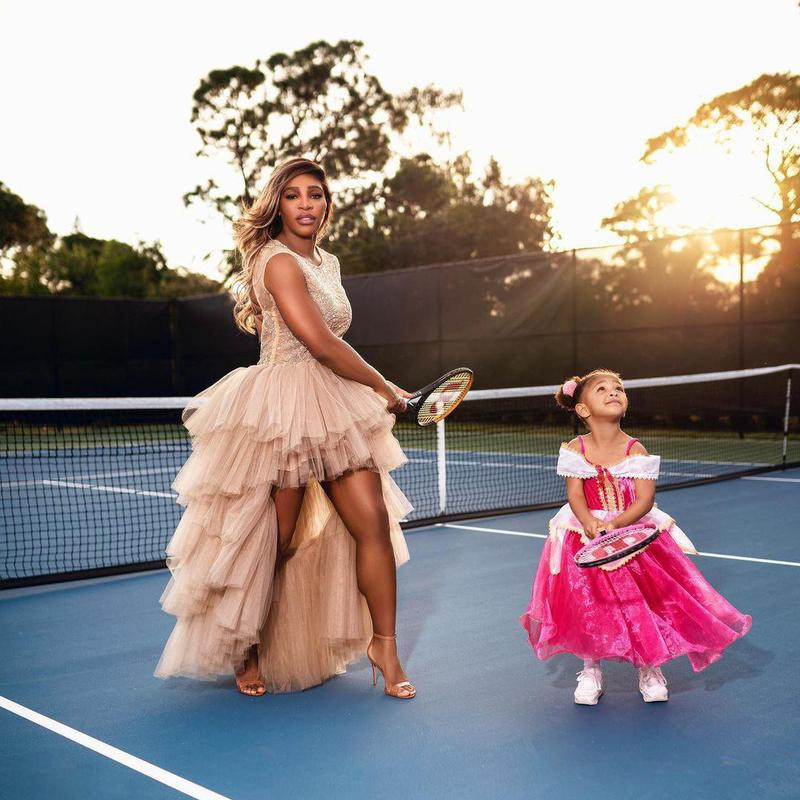 Serena Williams and her daughter Olympia